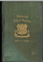 Sedbergh School Register 1875-1928